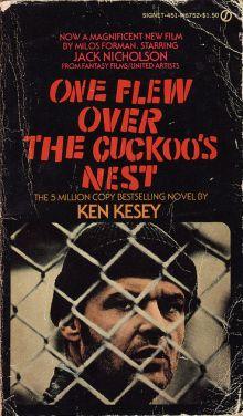 "Обложка книги ""Пролетая над гнездом кукушки"" Кена Кизи"
